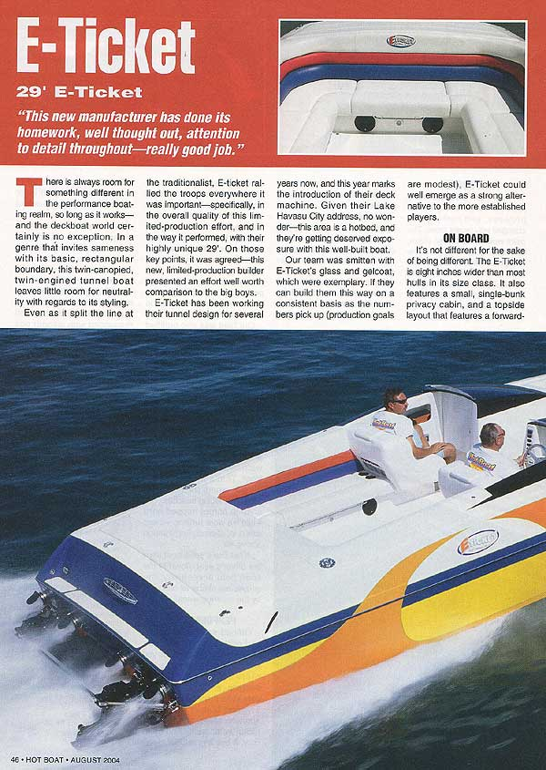 E-Ticket review in Hot Boat, August 2004